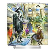 James Joyce Shower Curtain