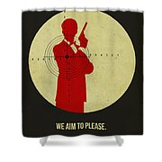 James Poster Black 2 Shower Curtain