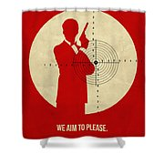 James Poster Red 2 Shower Curtain