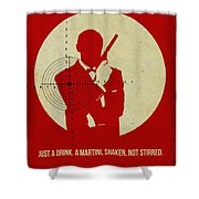 James Poster Red 4 Shower Curtain