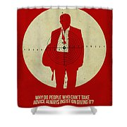 James Poster Red Shower Curtain