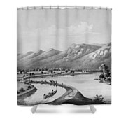 James River Canal, 1857 Shower Curtain