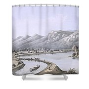 James River Canal Near The Mouth Shower Curtain