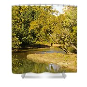 James River In The Fall Shower Curtain