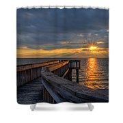 James River Sunset Riverview Pier Shower Curtain