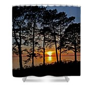 James River Sunset Shower Curtain