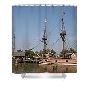 Jamestown Historic Sailingships Shower Curtain