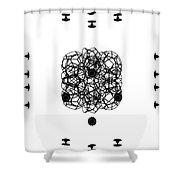 Jammer Asymmetrical Symmetry Shower Curtain