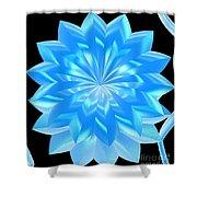 jammer Blue Shimmer Lotus Shower Curtain