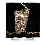 Jammer Crystal Ice Torch  Shower Curtain