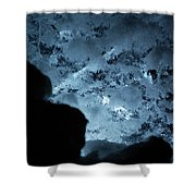 Jammer Deep Blue 001 Shower Curtain