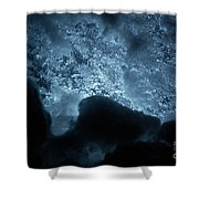 Jammer Deep Blue 002 Shower Curtain