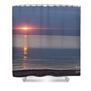 Flash Sunset Lake Huron By Jammer Shower Curtain