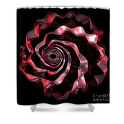 jammer Red Ribbon Shower Curtain