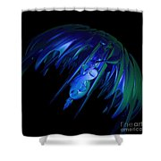 jammer Space Jelly  Shower Curtain
