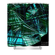 Jammer Swirling Emeralds  Shower Curtain