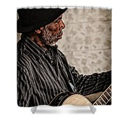 Jamming On The Street Shower Curtain