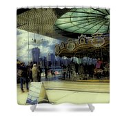 Jane's Carousel 3 In Dumbo Shower Curtain
