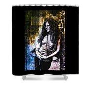 Janis Joplin - Gold Shower Curtain
