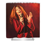 Janis Joplin Painting Shower Curtain