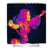 Janis Joplin Psychedelic Fresno 2 Shower Curtain by Joann Vitali