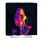 Janis Joplin Psychedelic Fresno  Shower Curtain by Joann Vitali