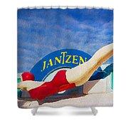 Jantzen Diver Shower Curtain