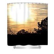 January 2013 Sunset Shower Curtain