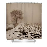 January Fog Shower Curtain