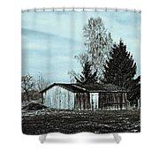 January Sadness Shower Curtain by Jutta Maria Pusl