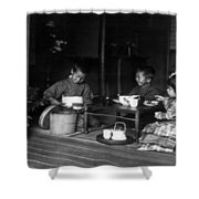 Japan Tea Party Shower Curtain