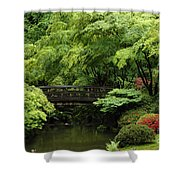 Japanes Garden Reverie Portland Oregon Shower Curtain