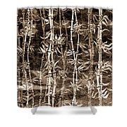 Japanese Bamboo Sepia Grunge Shower Curtain