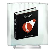 Japanese Book Of Koi Paintings By Gordon Lavender Shower Curtain