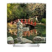 Japanese Bridge Over Water Shower Curtain