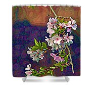 Japanese Cherry Blossom Branch Shower Curtain