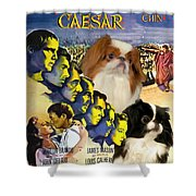Japanese Chin Art - Julius Caesar Movie Poster Shower Curtain
