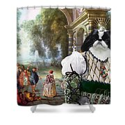 Japanese Chin Art Canvas Print Shower Curtain