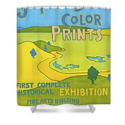 Japanese Color Prints 1896 Shower Curtain