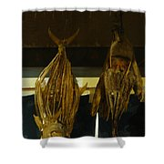 Japanese Fish And Seafood Dried Decoration Shower Curtain