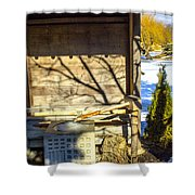 Japanese Fountain Shower Curtain