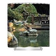 Japanese Garden At Sundown Shower Curtain