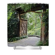 Japanese Garden Gate  Shower Curtain