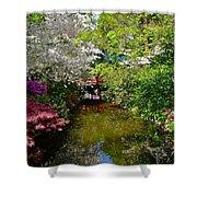 Japanese Garden In Bloom Shower Curtain