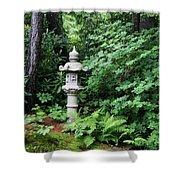 Japanese Garden Lantern Shower Curtain