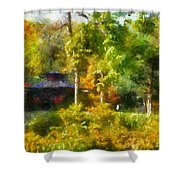 Japanese Garden Laura Bradley Park 02 Shower Curtain