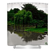 Japanese Garden Point Shower Curtain