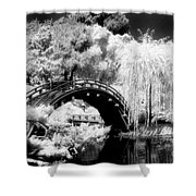 Japanese Gardens And Bridge Shower Curtain