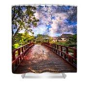 Japanese Gardens Shower Curtain by Debra and Dave Vanderlaan