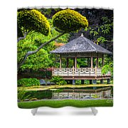 Japanese Gazebo Shower Curtain